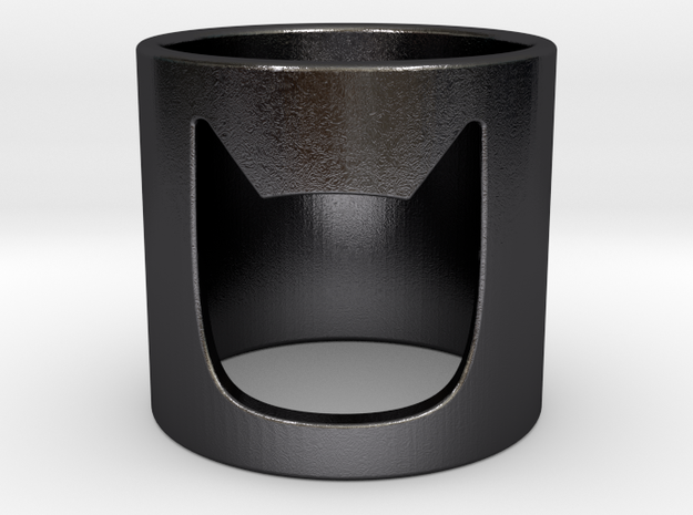 Batman Ring in Polished and Bronzed Black Steel