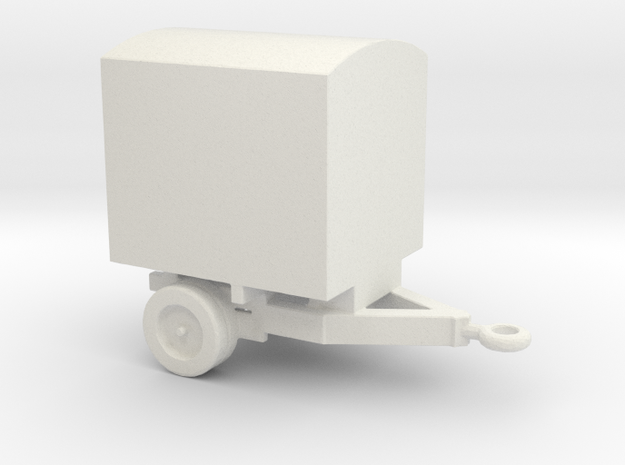 1/144 Scale M-479 Battery Service Trailer in White Natural Versatile Plastic