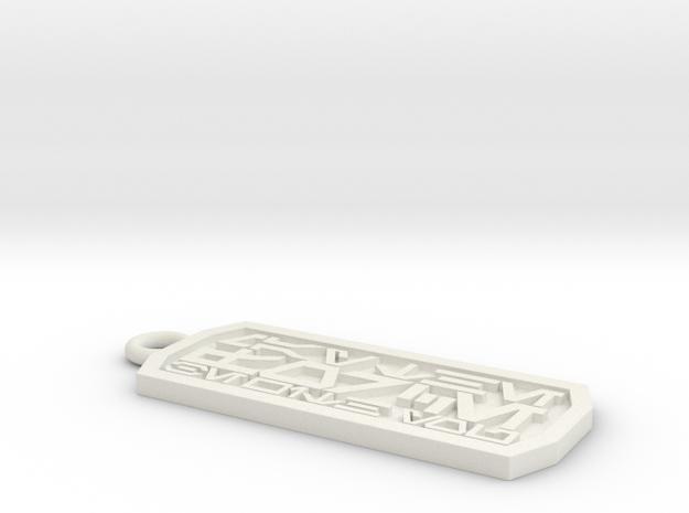 Aurebesh Keychain in White Strong & Flexible