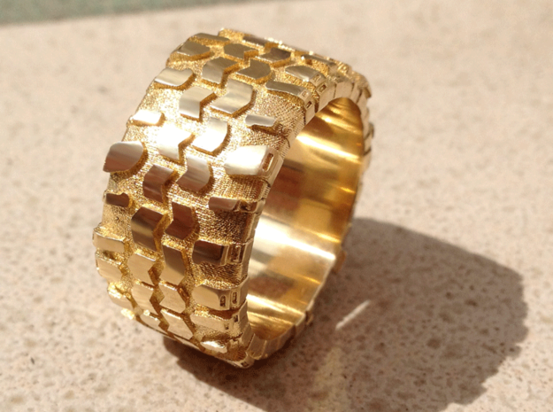 10.0 Superswamper Male in Polished Brass
