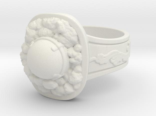 Havel's Ring in White Natural Versatile Plastic