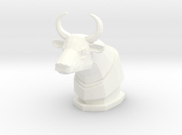 K Bull Figure in White Processed Versatile Plastic
