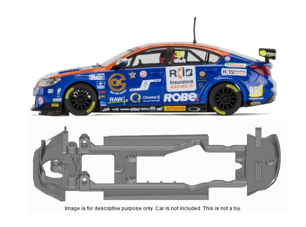 S16-ST4 Chassis for Scalextric MG6 SSD/STD in Black Natural Versatile Plastic