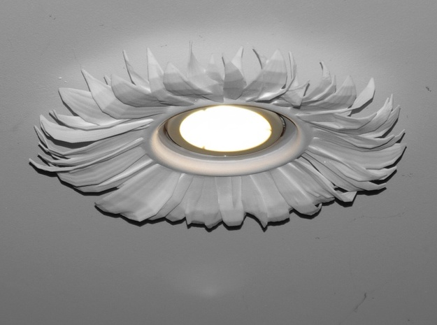 Light Fitting With Sunflower 3d printed Mounted on the ceiling at my home