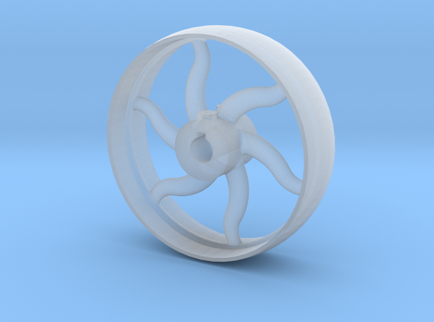 Curved Spoke Pulley  in Smooth Fine Detail Plastic: 1:32