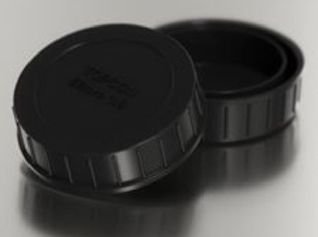 Topcon/Exakta Rear Lens Cap in Black Natural Versatile Plastic