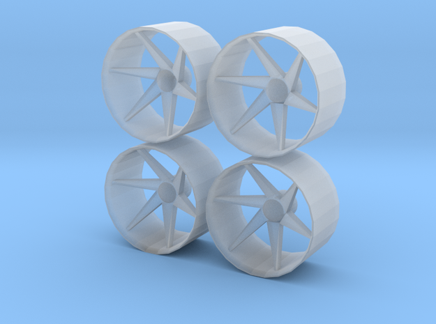 1/24 1/25 Wheel Type 1 in Smooth Fine Detail Plastic