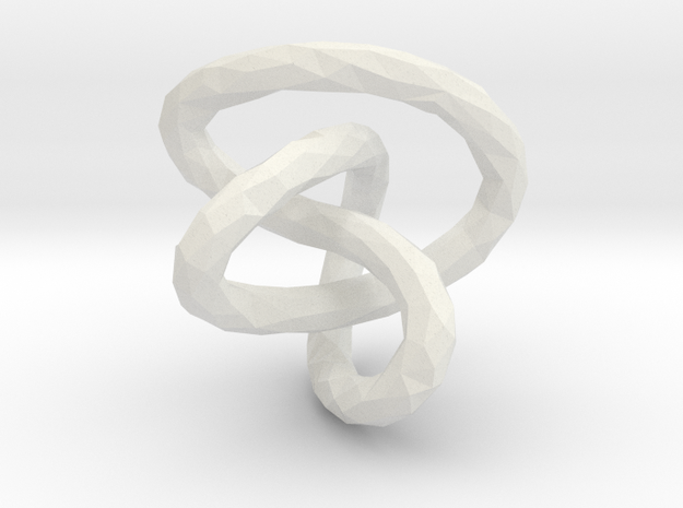 Infinite Knot - Lowpoly in White Natural Versatile Plastic