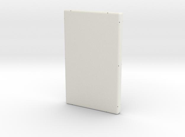 Rear Case in White Natural Versatile Plastic