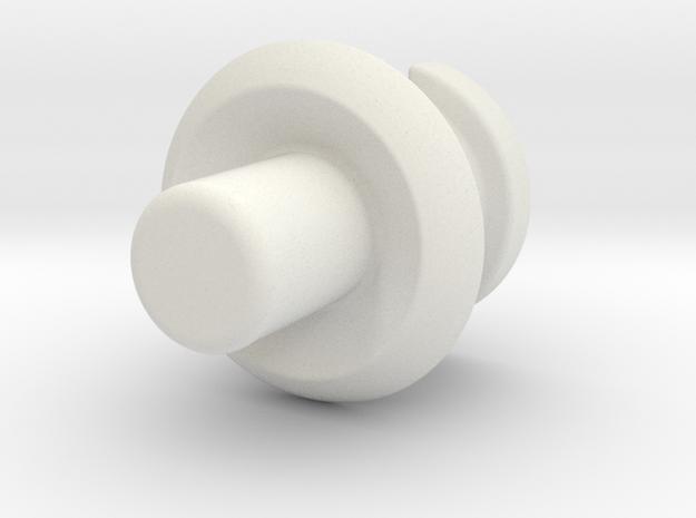 Fort Max Waist Gun Adapter in White Natural Versatile Plastic