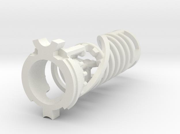 KR Luke Hero -  Master Chassis Part3 - CC Insert in White Natural Versatile Plastic