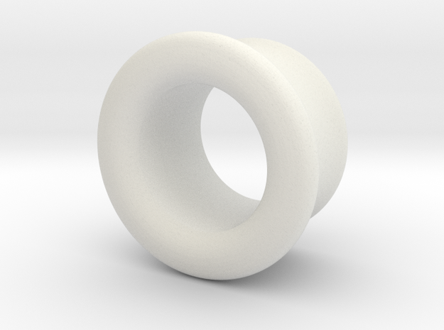 Basic earplug in White Natural Versatile Plastic
