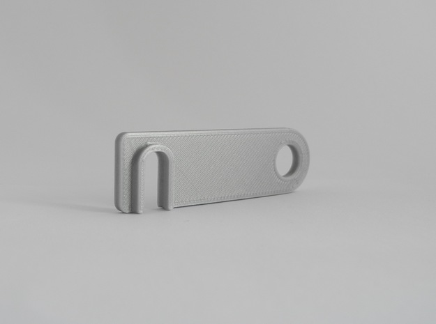 iPhone landscape stand keychain in White Natural Versatile Plastic