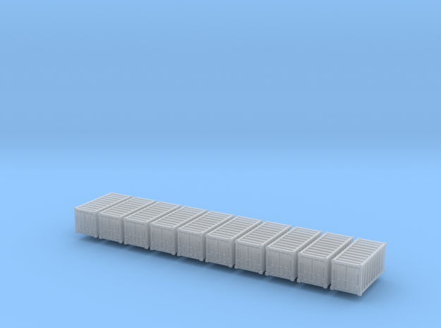 1:400_20' Container [x10][A] in Smooth Fine Detail Plastic