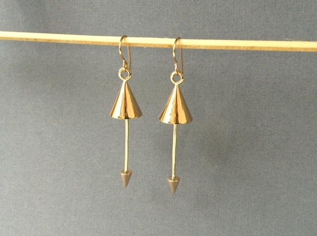 Cone Earrings - Created with interlocking metals