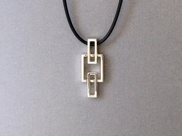 Chain pendant - Pendant using interlocking metals.