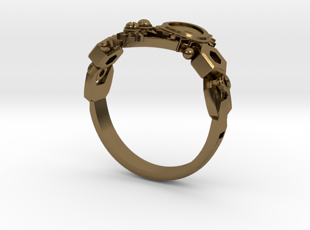 Mech Heart Ring 3d printed