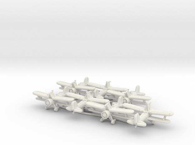 1/200 Curtiss F9C Sparrowhawk (x7) in White Natural Versatile Plastic