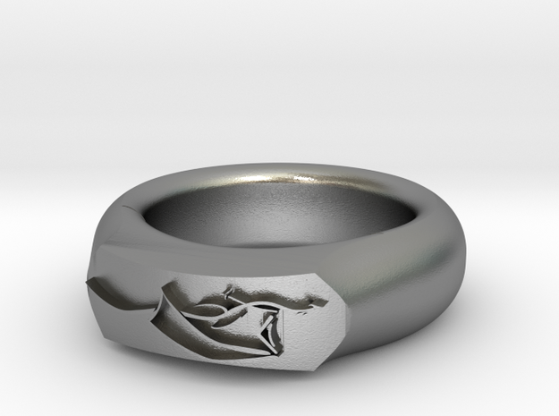 Dragon Ring in Natural Silver: 6 / 51.5