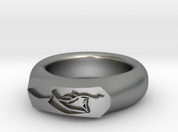 Dragon Ring in Natural Silver: 6 / 51.5