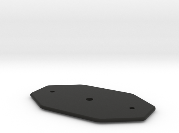 MK Chestbox lock Plate in Black Natural Versatile Plastic