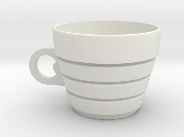 Museum_Cup in White Natural Versatile Plastic