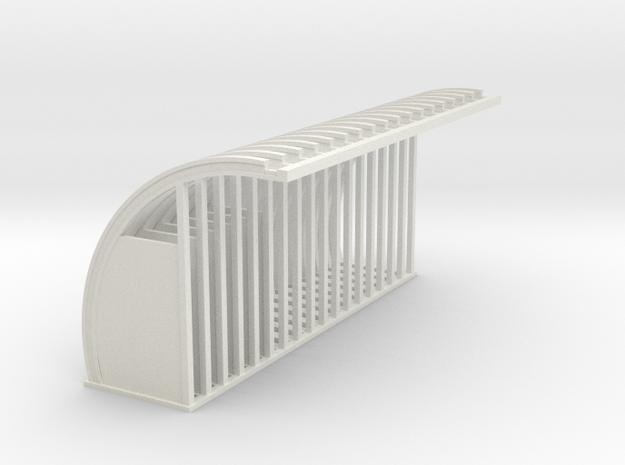 Quonset Struts - 72:1 Scale in White Natural Versatile Plastic