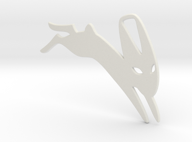 Black Rabbit of Inle in White Natural Versatile Plastic