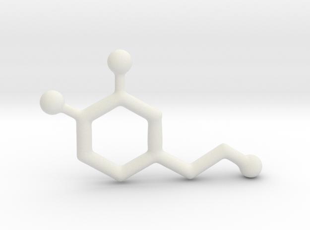 Molecules - Dopamine in White Natural Versatile Plastic