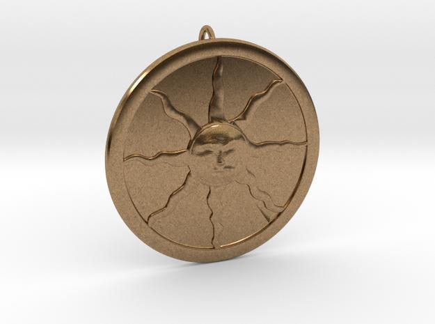 Sunlight Pendant in Natural Brass (Interlocking Parts)
