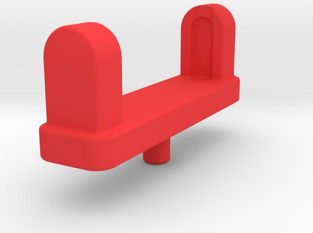 Leg Gun Adapter in Red Processed Versatile Plastic