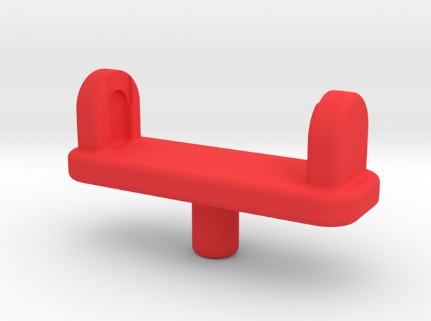 Forearm Gun Adapter in Red Strong & Flexible Polished