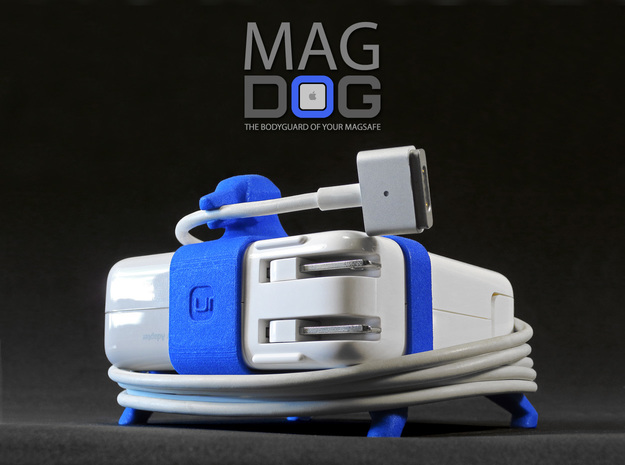 MAGDOG - The Bodyguard of your MagSafe! (85w) in Blue Processed Versatile Plastic