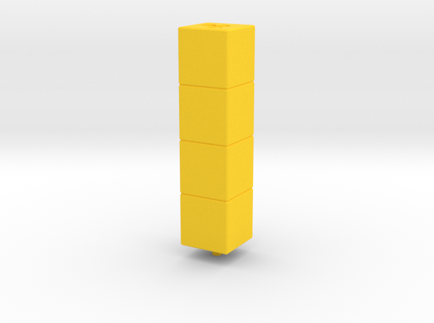Tower of Pimps (Top Module) in Yellow Strong & Flexible Polished