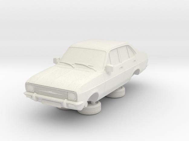 1:87 escort mk 2 4 door standard round headlights in White Natural Versatile Plastic