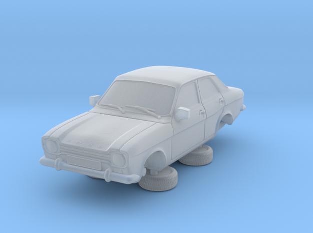 1-87 Escort Mk 1 4 Door Standard in Smooth Fine Detail Plastic