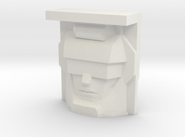 Bonecrusher, Sunbow Face (Titans Return) in White Natural Versatile Plastic