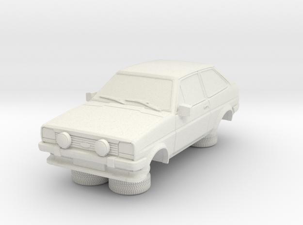 1-76 Ford Fiesta Mk1 Super Sport in White Natural Versatile Plastic