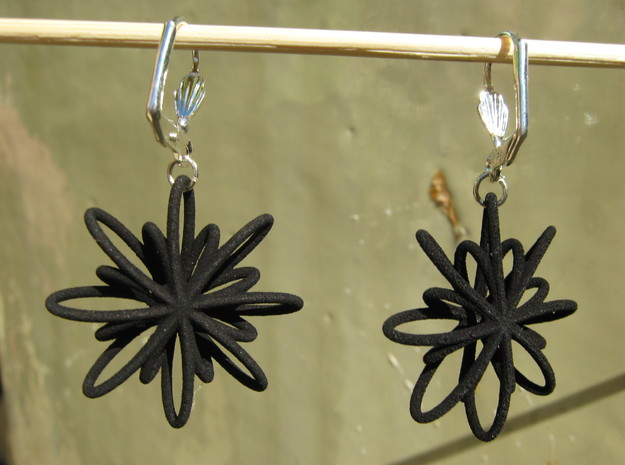 Coil Earrings 88 3d printed