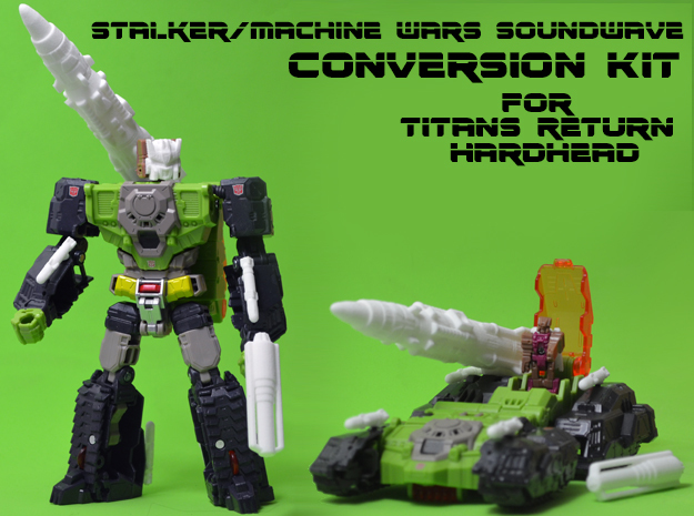 Stalker/MW Soundwave Upgrade Kit (Titans Return) in White Strong & Flexible: Medium