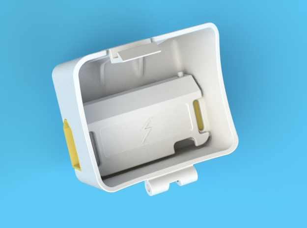 Power Battery door Upgrade-Kit 3d printed DJI Phantom Power Battery door back view