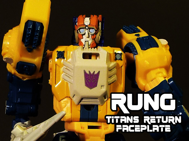 Rung Faceplate (Titans Return-Compatible) in Smooth Fine Detail Plastic