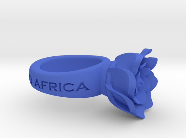 FlowerRing UcheAristotle in Blue Strong & Flexible Polished