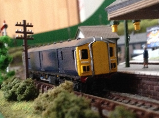 N Scale (1:148) Class 128 Gloucester Parcels Body 3d printed