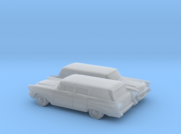 1/160 2X 1957 Chevrolet Bel Air Station Wagon in Frosted Ultra Detail