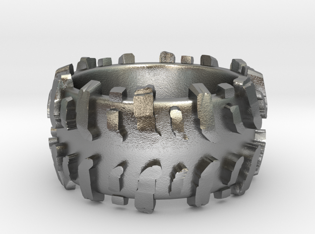 Mud Tire Man Ring 3d printed