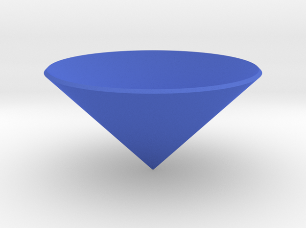 Cone: Tiny in Blue Processed Versatile Plastic