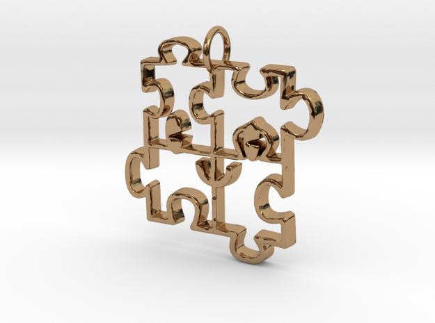 Puzzled happy face pendant