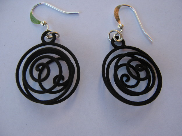 Tornado Earrings 3d printed