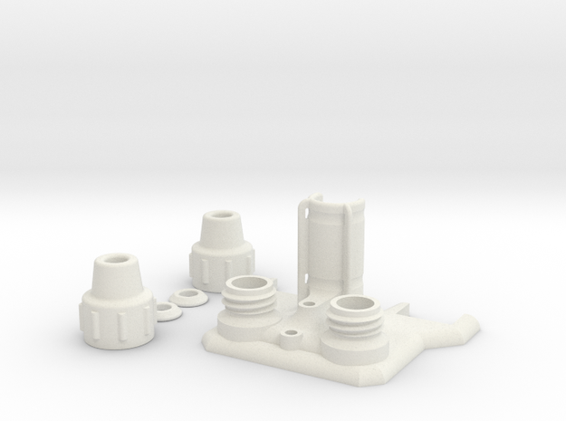CTC Printer Top in White Natural Versatile Plastic